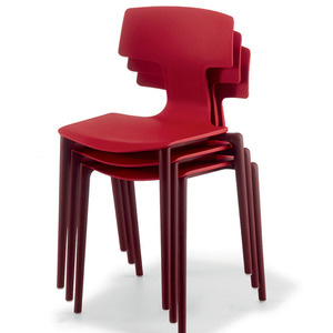 CHAIR SPLIT RED